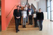 Urkundenverleihung an die Sieger des Mathematik-Wettbewerbs 2019/20